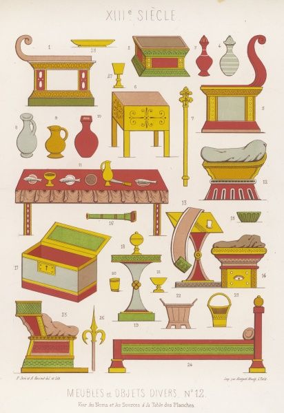 Various pieces of furniture