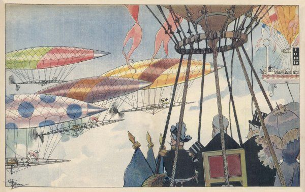 WILD IDEAS A race-meeting of the future : in days to come, Le Grand Prix de Paris will be run not with horses but with airships