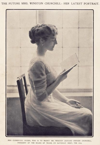 Clementine Churchill while still Miss Clementine Hozier, featured in The Sketch magazine in the week prior to her marriage to Winston Churchilll on 12th September 1908