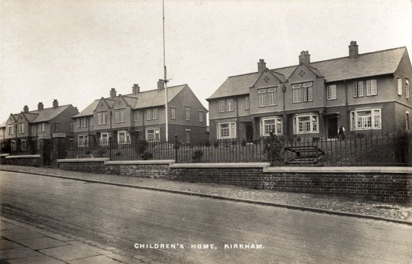 The Fylde Union cottage homes for children, Kirkham, Lancashire. The homes were built in 1913-14 on the site of the original Fylde Union workhouse after it was replaced by a new and larger building at Wesham
