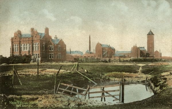 The newly erected Fylde Union workhouse at Medlar with Wesham in about 1907. It replaced a previous building at Kirkham. The Wesham site served as a military hospital during World War One, then later became Wesham Park Hospital