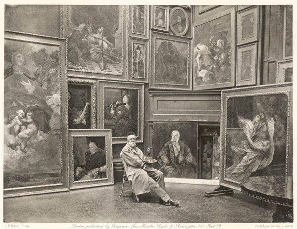 GEORGE FREDERICK WATTS artist, in his studio