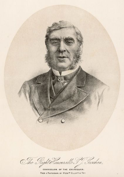 GEORGE JOACHIM GOSCHEN 1st Viscount Goschen, politician and financier. Director of Bank of England 1858-1865 and later Chancellor of the Exchequer