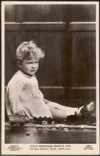 GERALD DAVID LASCELLES later VISCOUNT LASCELLES Younger son of 6th Earl Harewood and Princess Mary