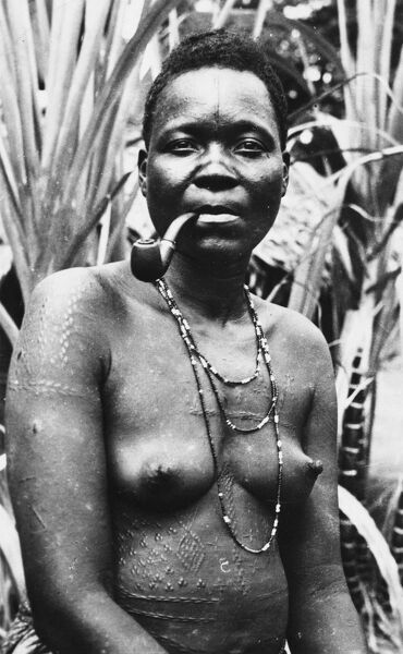 A Woman from Sibiti, Gabon - part of the Bakota (or Kota) - a Bantu ethnic group from the northeastern region of the country