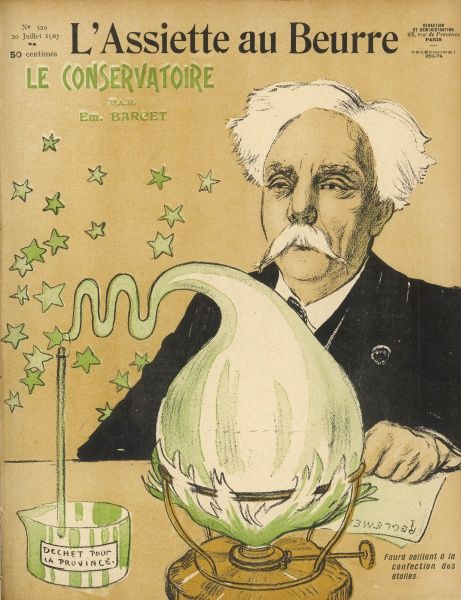 GABRIEL FAURE - French musician caricatured as musical scientist