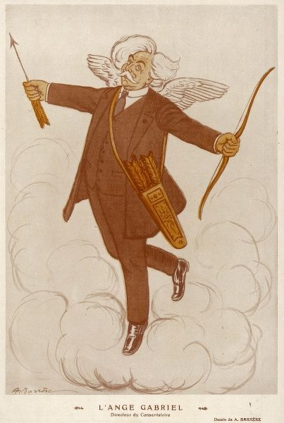 GABRIEL FAURE - French musician caricatured as the angel Gabriel