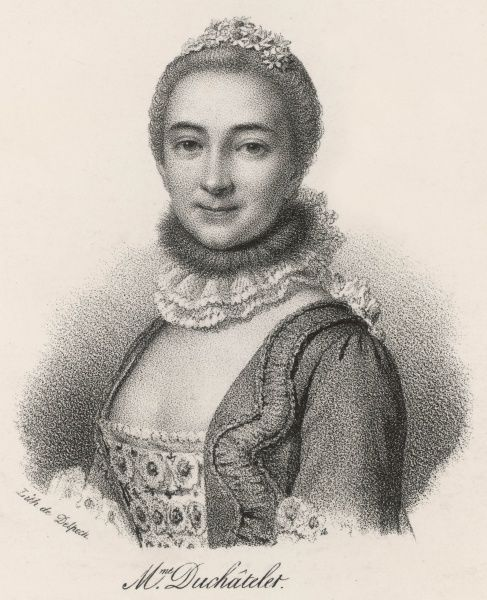 Gabrielle Emilia, marquise DU CHATELET French writer, mistress of Voltaire