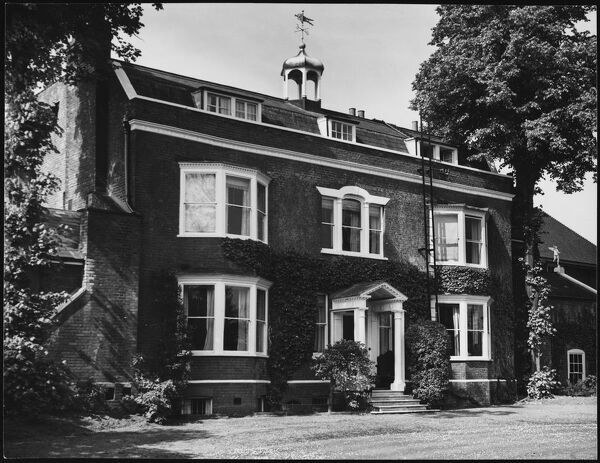 "The fine red brick house at Gad's Hill, near Rochester, Kent. It was here that Charles Dickens died on 9 June 1870, while writing his novel ""Edwin Drood&quot"