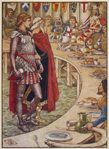 Sir Galahad is introduced to the Round Table