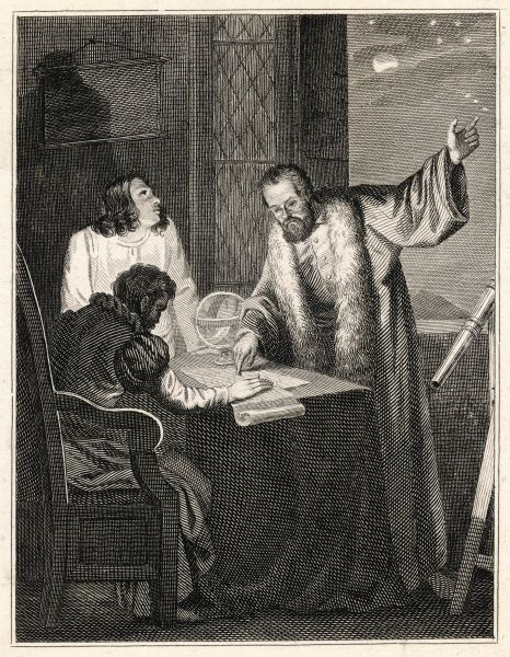 He shows the satellites of Jupiter to Cosimo de Medici