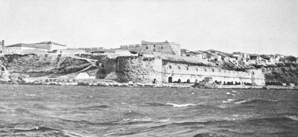 The Sedd el Bahr forterss at the entry to the Dardanelles during World War I