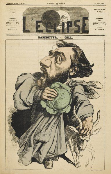 LEON MICHEL GAMBETTA French lawyer and statesman: escaping with a cabbage and a goat!