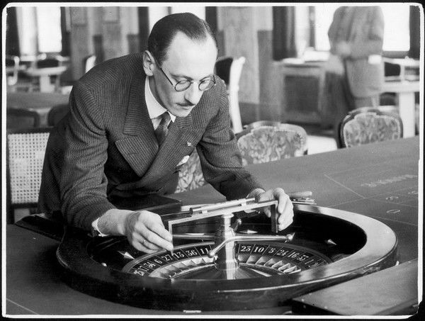 To insure absolute accuracy of the roulette game, the roulette wheel on each table is tested each morning with a spirit level