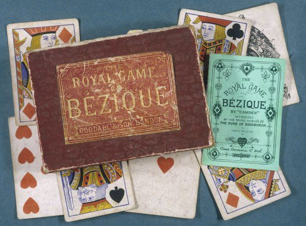 A boxed set of the Royal game of Bezique