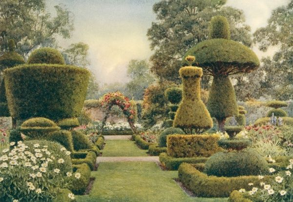 Examples of creative topiary at Levens Hall, Westmoreland, UK