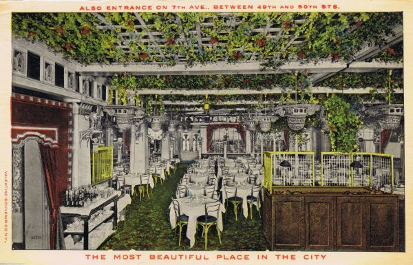 The Garden Restaurant,, 50th Street at Broadway and 7th Avenue, New York Date: 1920s