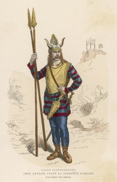 A GAULISH CHIEF before the Roman occupation of France
