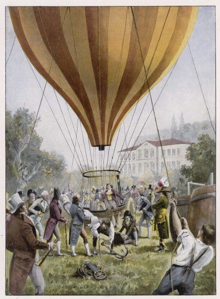 French scientist GAY-LUSSAC makes one of his ascents at Paris - the first instance of a manned aerial device being used for scientific purposes