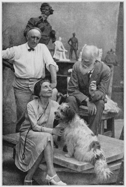 GEORGE BERNARD SHAW Irish playwright and critic with Emma Gramatica, her dog Michele, and the sculptor Paolo Troubetzkoi in 1926