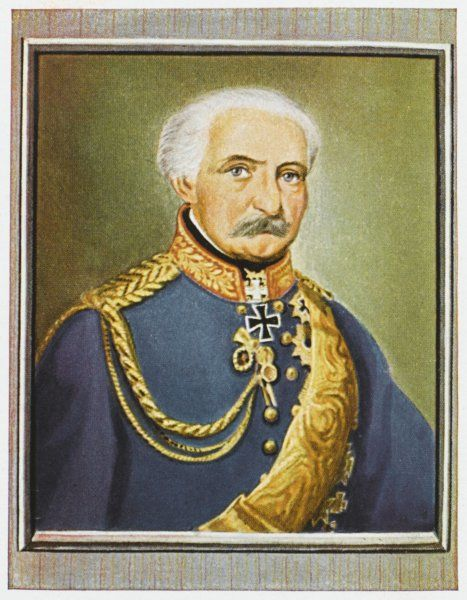 GEBHARD LEBERECHT VON BLUCHER Prince of Wahlstatt Prussian field marshal - aided Wellington in victory at Waterloo