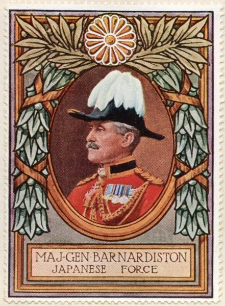 NATHANIEL WALTER BARNARDISTON (1858 - 1919). During World War One he was in command of the small British contingent from Wei-hei-Wei that co-operated with the Japanese