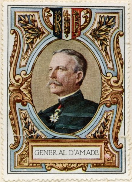General ALBERT GERARD LEO D'AMADE (1856 - 1941) French General during World War One