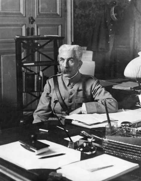 General Hubert Gonzalve Lyautey (1854-1934), French army officer, seen here at his desk as the newly appointed Minister of War during the First World War. Date: 1916