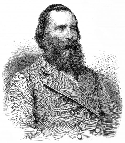 Portrait of General James Longstreet, of the Confederate Army, pictured c.1864