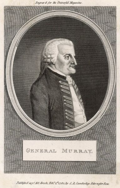General JAMES MURRAY British soldier, governor of Quebec and of Canada