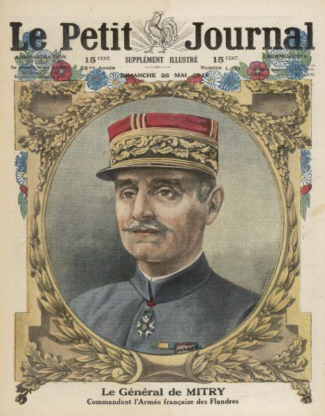General Antoine de Mitry, commander of the French Seventh Army from 1918 to the Armistice during World War One