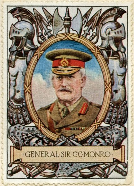 General SIR CHARLES CARMICHAEL MONRO, 1st Baronet of Bearcrofts, GCB, GCMG, GCSI (1860 - 1929) British Army General during World War I and Governor of Gibraltar from 1920 to 1929