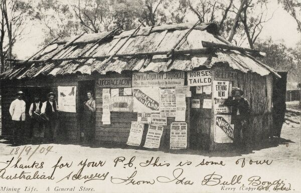 General Store close to a Mining settlement - Australia