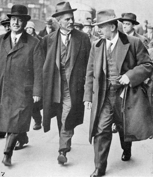 Labour leaders during the General Strike: (left to right), Arthur Henderson, Ramsay MacDonald (leader of the opposition) and Mr J