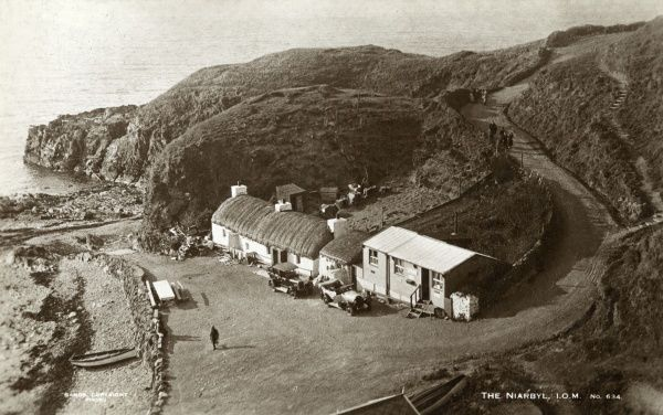 General view of the Niarbyl (meaning 'tail'), between Port Erin and Peel on the south west coast of the Isle of Man. Date: circa 1950