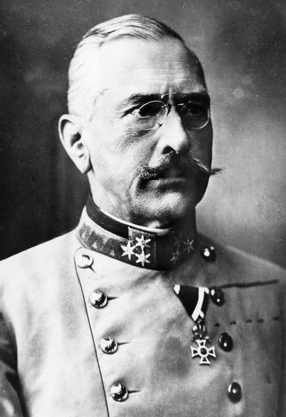 Count Viktor Dankl von Krasnik (1854-1941) of the Austro-Hungarian Army, promoted to Generaloberst (Colonel General) during the First World War. Date: circa 1915