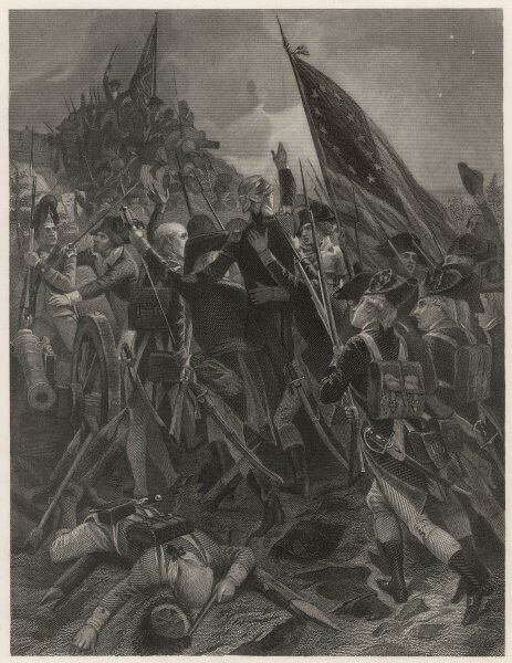 General Anthony Wayne storming the British-held fort at Stony Point, New York state