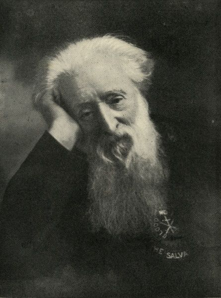 Salvation Army founder William Booth (1829-1912) in about 1909 when he reached his 80th birthday