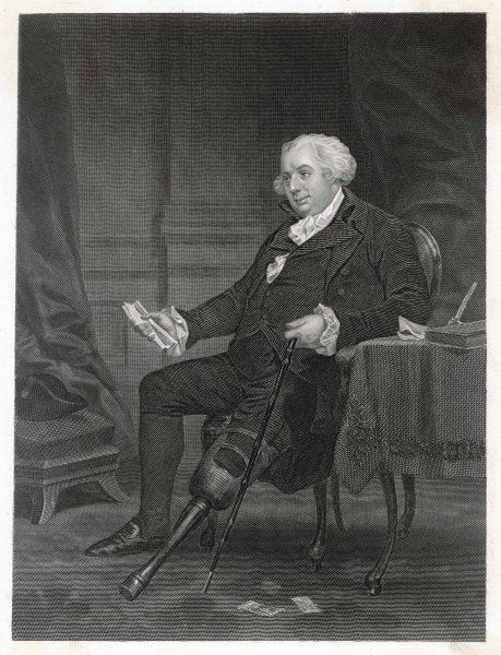 American statesman GOUVERNEUR MORRIS with his wooden leg