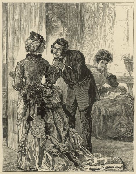 An illustration accompanying an extract from Wilkie Collins' book, 'The Law and the Lady&#39