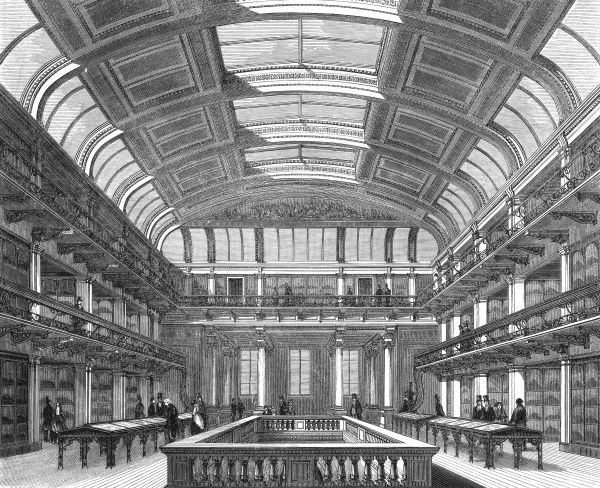 The Great Hall of the Economic Geology Museum, Jermyn Street, Piccadilly, London, (previously the Practical Geology Museum) Date: 1851