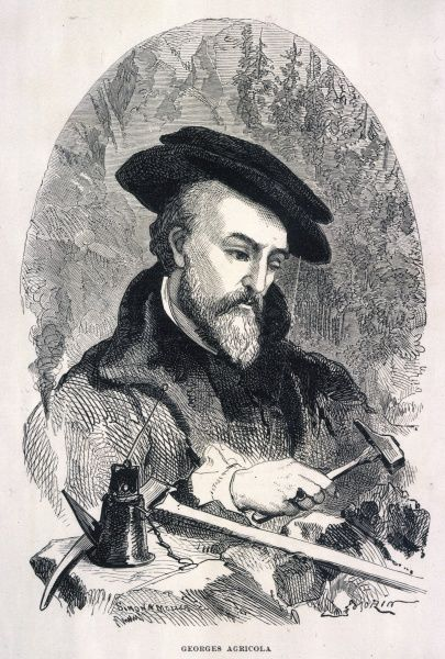 GEORG AGRICOLA BAUER Considered the father of mineralogy, basing writings on observation and enquiry rather than received opinion