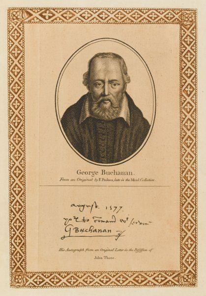 GEORGE BUCHANAN Scottish protestant churchman, scholar, statesman and historian with his autograph