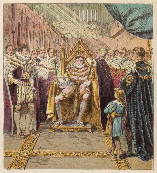 The Prince Regent, George IV, is crowned king at Westminster Abbey
