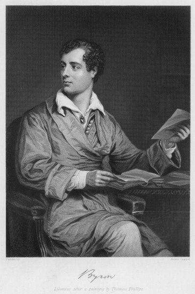 GEORGE GORDON, lord BYRON writer and champion of Greek independence with his autograph