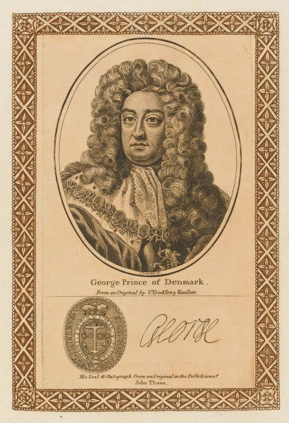GEORGE prince of Denmark consort of Queen Anne with his autograph