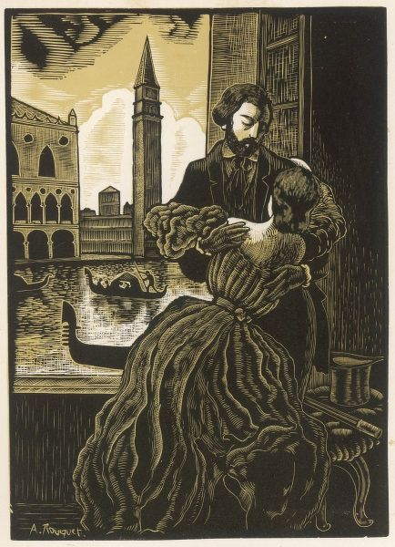ALFRED DE MUSSET with GEORGE SAND at Venice : he was neither the first nor the last of her many lovers