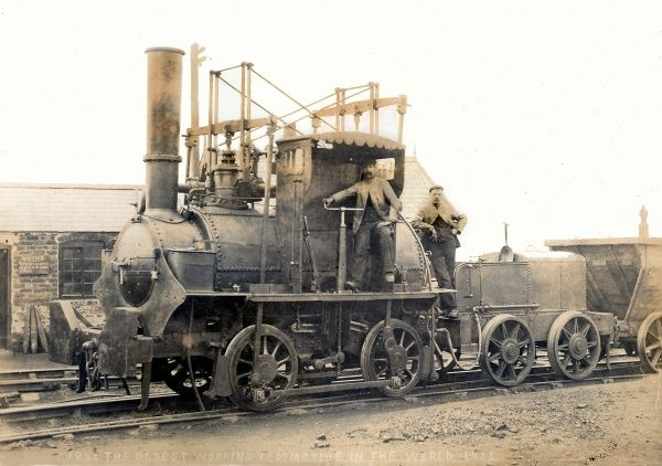 George Stephenson's Hetton colliery locomotive of 1822, photographed in 1903 Date: 1822