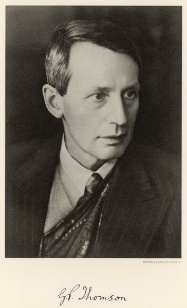 SIR GEORGE PAGET THOMSON English physicist