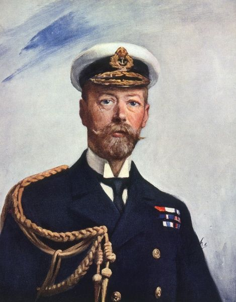 GEORGE V The King in a navy uniform. Date: 1865 - 1936